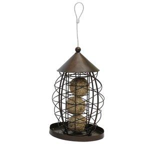 Rosewood Vetbolhouder vogel lantaarn antiek