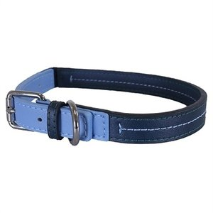 Rosewood Rosewood halsband hond leer babyblauw / donkerblauw