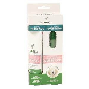 Vets best Vets best puppy tandpasta met vingerborstel kit