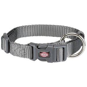 Trixie Trixie premium halsband hond grijs