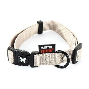 Martin sellier Martin sellier halsband nylon grijs verstelbaar