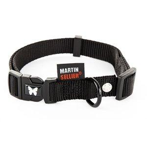 Martin sellier Martin sellier halsband nylon zwart verstelbaar