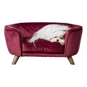 Enchanted pet Enchanted hondenmand / sofa romy wijnrood