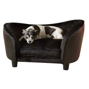 Enchanted pet Enchanted hondenmand sofa ultra pluche snuggle wicker bruin