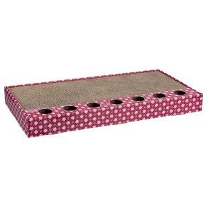 Trixie Trixie krabplank karton met balletjes roze