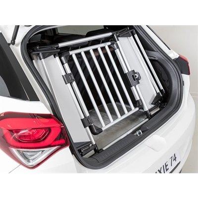 Trixie Trixie kofferbak hek aluminium / kunststof grijs / zwart