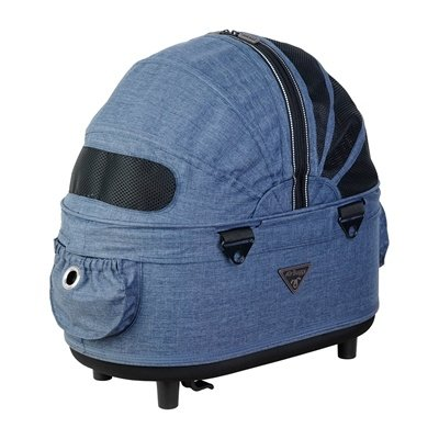 Airbuggy Airbuggy reismand hondenbuggy dome2 sm cot gemeleerd denim