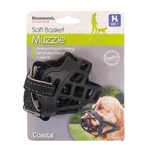 Rosewood Rosewood soft basket muilkorf zwart