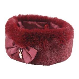 Croci Croci halsband hond fancylady imitatiebont rood