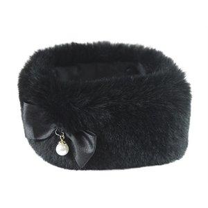 Croci Croci halsband hond darklady imitatiebont zwart