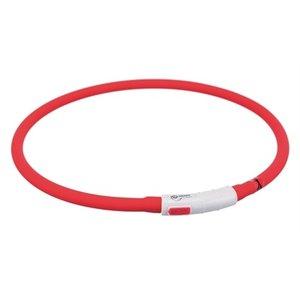 Trixie Trixie halsband usb flash light lichtgevend oplaadbaar rood