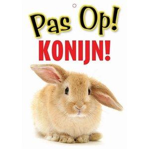 Merkloos Waakbord nederlands kunststof konijn