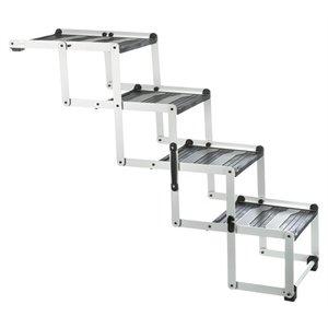 Trixie Trixie vouwtrap 4-delig aluminium / kunststof / tpr tot 75 kg