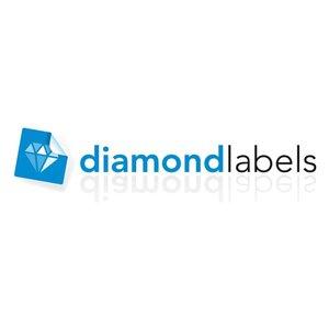 Diamondlabels DTD07R Papier 56x25mm kern 25 mm voor desktop labelprinters 1000 per rol prijs per 1 rollen