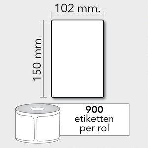 Diamondlabels DTD09  Papier 100x150mm kern 76 mm voor industriële en midrange labelprinters 900 per rol prijs per 1 rollen