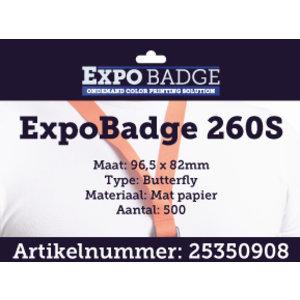 Diamondlabels ExpoBadge 96x82mm. Mat extra dik paper, Epson Colorworks TM-C3500
