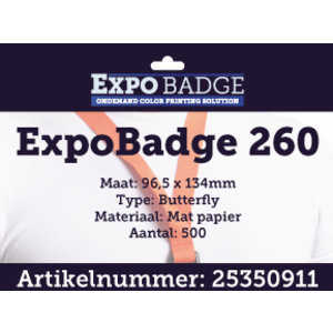 Diamondlabels ExpoBadge 96x134mm. Mat extra stevig papier, Epson Colorworks TM-C3500