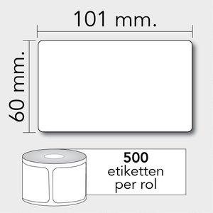 Diamondlabels DTD07  Papier 101x60mm kern 25 mm voor desktop labelprinters 50 per rol prijs per 1 rollen