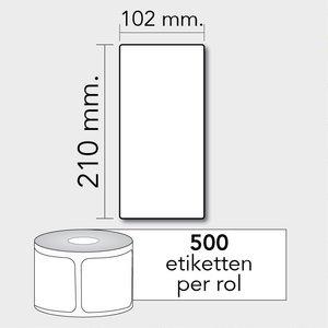 Diamondlabels DTD09  Papier 102x210mm kern 76 mm voor industriële en midrange labelprinters 640 per rol prijs per 1 rollen