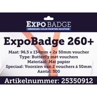 Diamondlabels ExpoBadge-260+ 96x134 Butterfly incl. vouchers