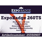 Diamondlabels ExpoBadge 260TS 96x82 Butterfly badge