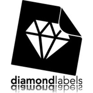 Diamondlabels Diamondlabels thermal transfer DTT07U vellum 101x101mm Kern 76mm 1500 per rol, verwijderbaar voor glas