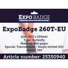 Diamondlabels ExpoBadge-260T-EU 96x134 scheurbestendige ButterflyBadge