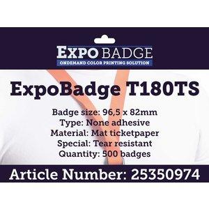 Diamondlabels ExpoBadge 96x82mm. Mat scheurbestendig papier zonder lijm, Epson Colorworks TM-C3500