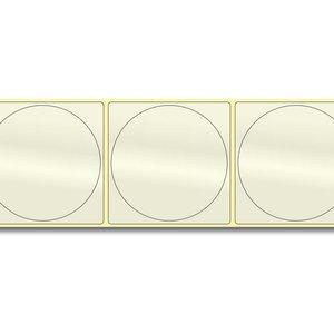 Diamondlabels Ø75 mm. 350 inkjet PP transparante kunststof labels permanente lijm & Glossy etiketten