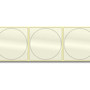 Diamondlabels DIA717 PP transparant 75mm rond, label in label, kern 38 mm voor desktop en midrange labelprinters 350 per rol prijs per 1 rollen