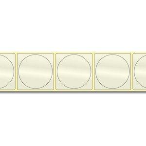 Diamondlabels DIA715 PP 50x50mm kern 38 mm voor desktop en midrange labelprinters 500 per rol prijs per 1 rollen