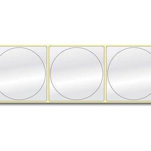 Diamondlabels DIA400 glanzend papier 75x75mm kern 38 mm voor desktop en midrange labelprinters 415 per rol prijs per 1 rollen