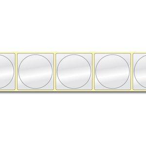 Diamondlabels DIA400 Papier 50x50mm kern 38 mm voor desktop en midrange labelprinters 600 per rol prijs per 1 rollen