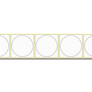 Diamondlabels DIA050 extra mat inkjet papier 50x50mm kern 38 mm voor desktop en midrange labelprinters 600 per rol prijs per 1 rollen