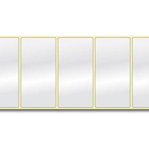 Diamondlabels DIA400 glanzend papier 102x51mm kern 38 mm voor desktop en midrange labelprinters 650 per rol prijs per 1 rollen
