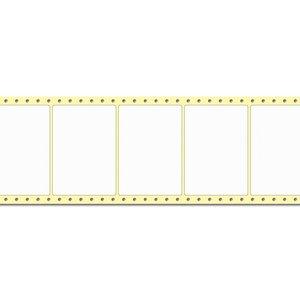 Diamondlabels DIA050 extra mat inkjet papier 105x74mm Fan-fold 2000 per rol prijs per 1 rollen