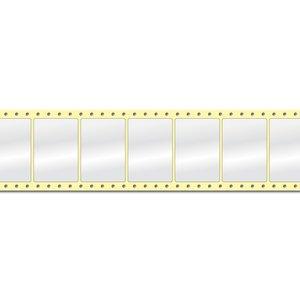 Diamondlabels DIA400 glanzend papier 74x52mm Fan-fold 2500 per rol prijs per 1 rollen