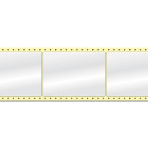 Diamondlabels DIA400 glanzend papier 105x148mm Fan-fold 1000 per rol prijs per 1 rollen