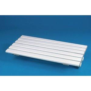 Plastic badplank van zeer goede kwaliteit. Makkelijk te bevestigen. Verkrijgbaar in drie verschillen lengtes. Zitbreedte is 23 cm. Maximaal gebrukersgewicht 190 kg.