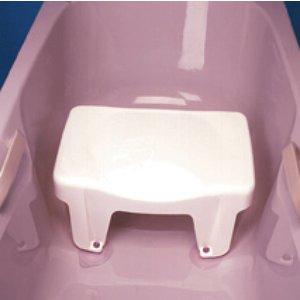 Sterk en lichtgewicht badzitje speciaal ontwikkeld voor zwaardere mensen. Comfortabele vorm en gedeeltelijke uitsparing voor persoonlijke hygi