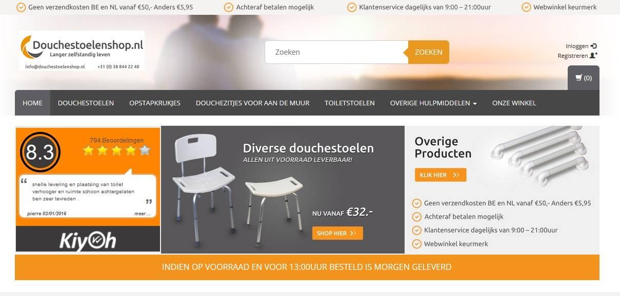 Ontdek de nieuwe website Douchestoelenshop.nl