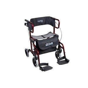 Rollator die ook als rolstoel gebruikt kan worden
