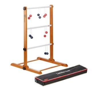 Ubergames Golfbal Laddergolf Spinladder spel met Navy & Rode Bolas
