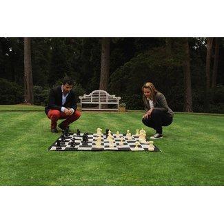 Ubergames Outdoor compleet schaakspel -  incl. mat 90x90 cm