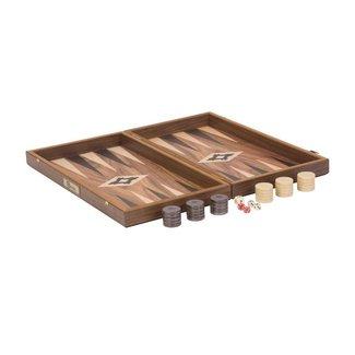 Ubergames Backgammon spel - exclusief - walnoot 47x50 cm