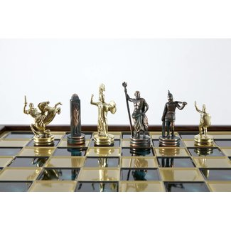 Ubergames Thematisch Grieks Romeinse exclusieve Goud Groene schaakset