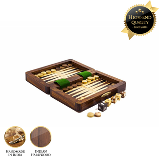 Meesterspel Luxe backgammon set -26x16 (32)  in reis-formaat