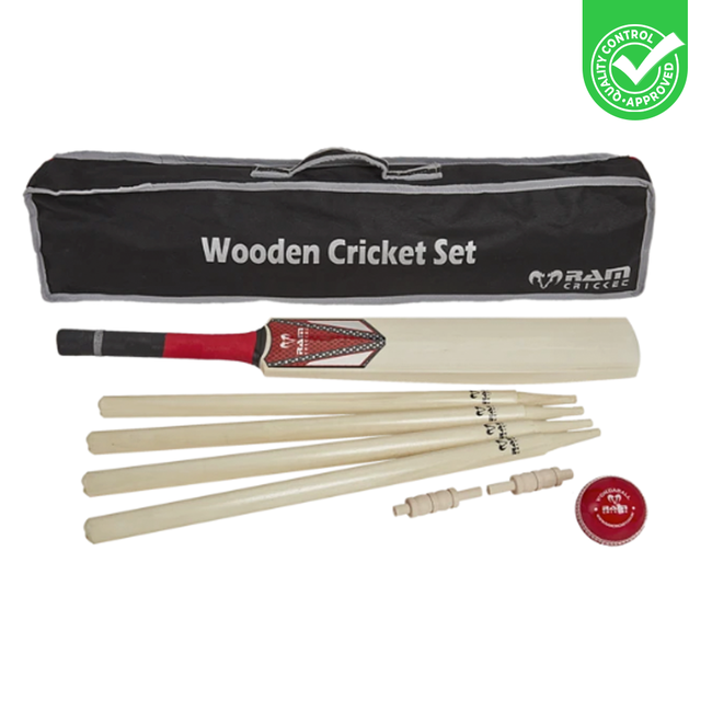 Ubergames Complete Cricket set incl. Stumps in stevige draagtas