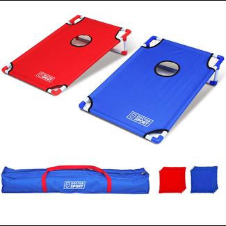 DrSport Dubbele U.S.A. CORNHOLE set Blauw-Rood in luxe draagtas