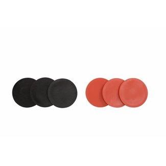 Ubergames Extra Schijven 4 op een Rij 3 stuks rood, 3 stuks zwart